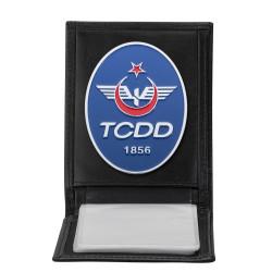 Anı Yüzük - TCDD Rozetli Yatay Kartlık Cüzdan Siyah