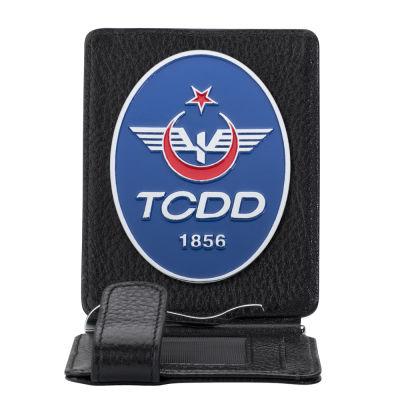 TCDD Rozetli Para Tokalı Kartlık Cüzdan Siyah
