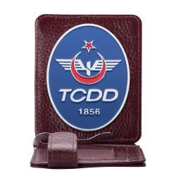 Anı Yüzük - TCDD Rozetli Para Tokalı Kartlık Cüzdan Bordo
