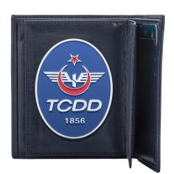 TCDD Rozetli Klasik Cüzdan Kamuflaj Desen - Thumbnail