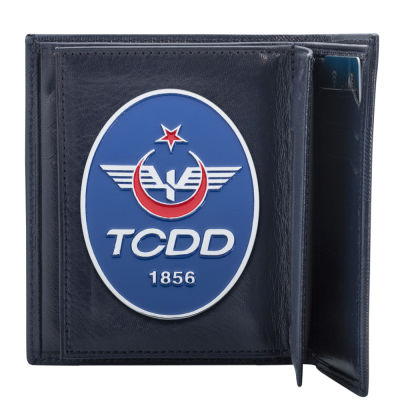 TCDD Rozetli Klasik Cüzdan Kamuflaj Desen
