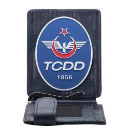 Anı Yüzük - TCDD Rozetli Para Tokalı Kartlık Cüzdan Kamuflaj Lacivert