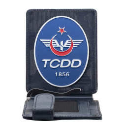 TCDD Rozetli Para Tokalı Kartlık Cüzdan Kamuflaj Lacivert