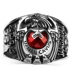 Anı Yüzük - Tek Kartal Başlı Jandarma Uzman Çavuş Devre Yüzüğü