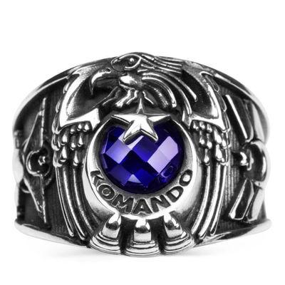 Tek Kartal Başlı Uzman Çavuş Rütbeli Komando Yüzüğü
