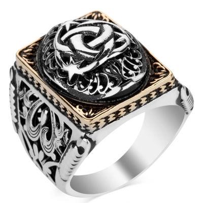 Teşkilat-ı Mahsusa Figürlü Taşsız Gümüş Erkek Yüzüğü