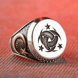 Anı Yüzük - Teşkilât-ı Mahsusa Yüzüğü (Ay Yıldız- Göktürkçe Türk)