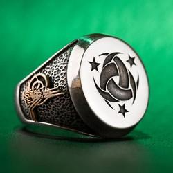 Anı Yüzük - Teşkilât-ı Mahsusa Yüzüğü (Osmanlı Arması-Tuğrası)
