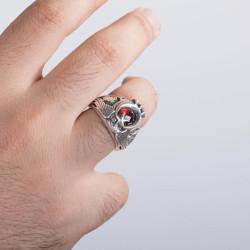 Tuğralı Tek Kartal Başlı Uzman Çavuş Yüzüğü - Thumbnail
