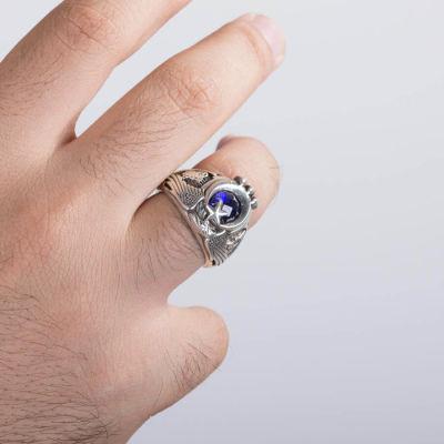 Tuğralı Tek Kartal Başlı Uzman Çavuş Yüzüğü