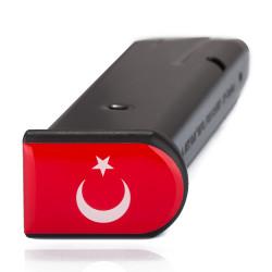 Türk Bayrağı Şarjör Stickerı - Thumbnail