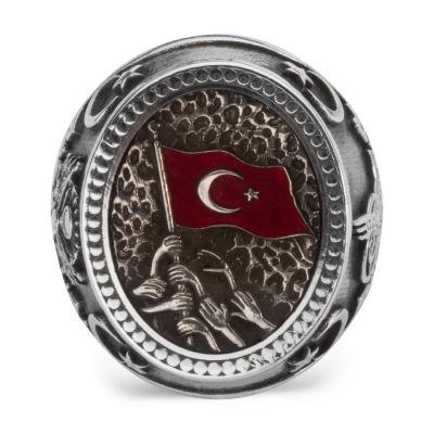 Türk Millet Motifli Kahramanlar Yüzüğü