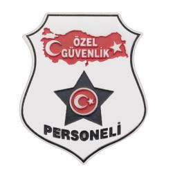 Türkiye Haritalı Özel Güvenlik Kemer Rozeti - Thumbnail