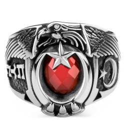 Anı Yüzük - Türk'ün Kudreti Yüzüğü (Göktürkçe Türk - Ay Yıldız)
