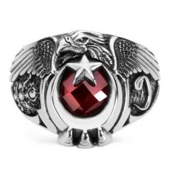 Anı Yüzük - Türk'ün Kudreti Yüzüğü (Osmanlı Arması - Vav)
