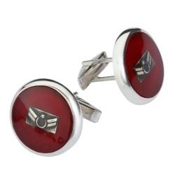 Anı Yüzük - Uzman Amblemli Gümüş Kol Düğmesi