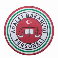 Yuvarlak Kesim Adalet Bakanlığı Personeli Cüzdan Rozeti - Thumbnail
