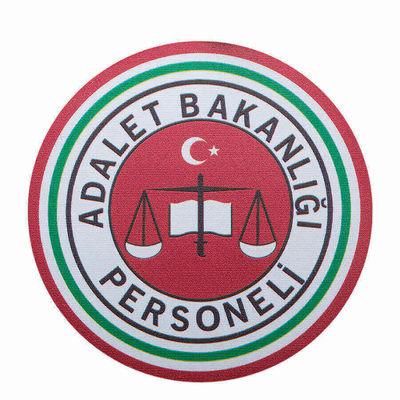 Yuvarlak Kesim Adalet Bakanlığı Personeli Cüzdan Rozeti