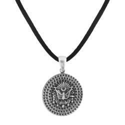 Anı Yüzük - Osmanlı Armalı Desenli Gümüş Erkek Kolye