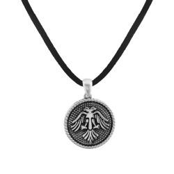 Gümüş Selçuklu Kartalı Motifli Erkek Kolye - Thumbnail