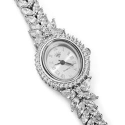 Anı Yüzük - Zirkon Taşlı 925 Ayar Gümüş Bayan Saati