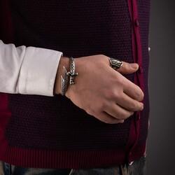 Zülfikarın Gücü 925 Ayar Gümüş Erkek Bileklik - Thumbnail